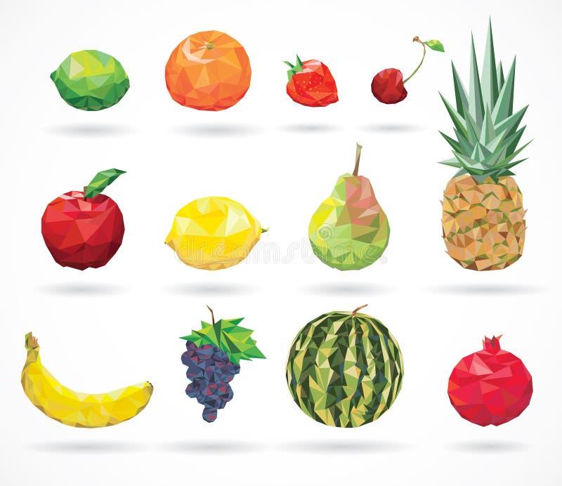 果子低多样式 库存例证