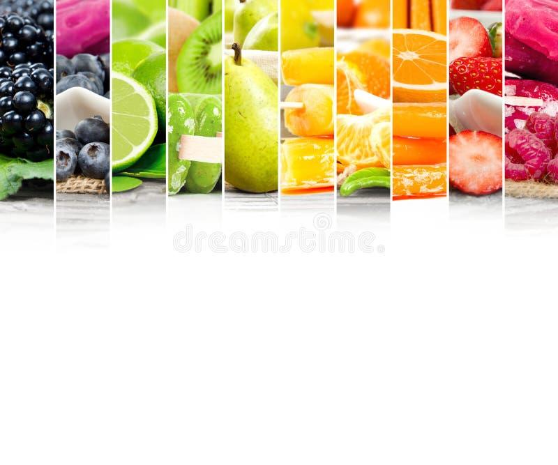 果子冰淇凌混合条纹 库存图片