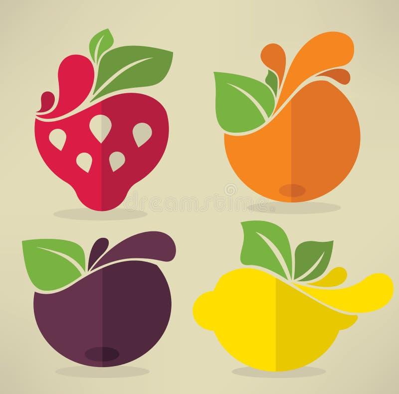 果子和浆果 向量例证