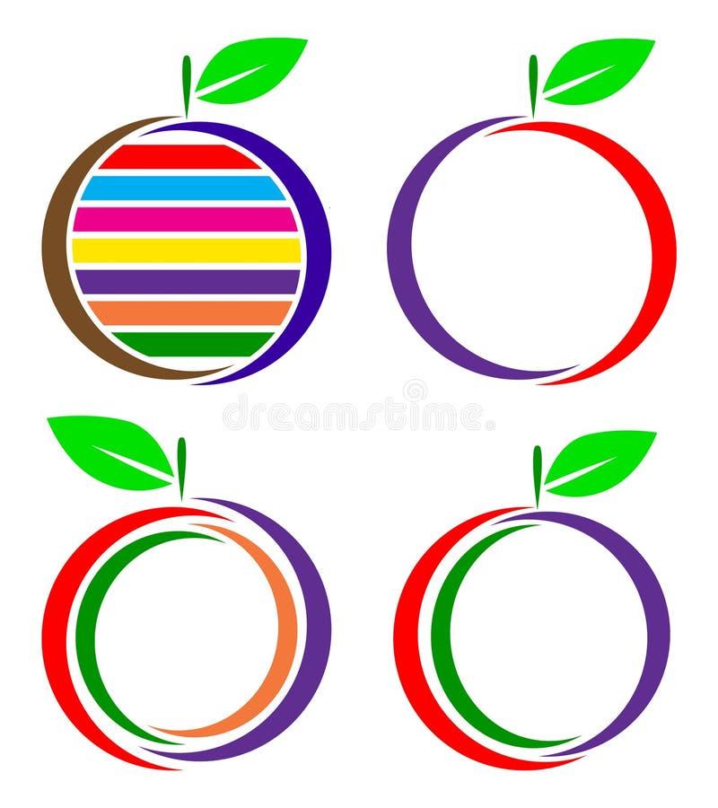 果子商标 库存例证