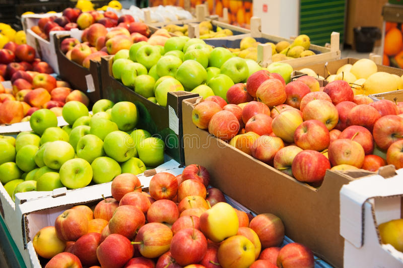 果子在超级市场 免版税图库摄影