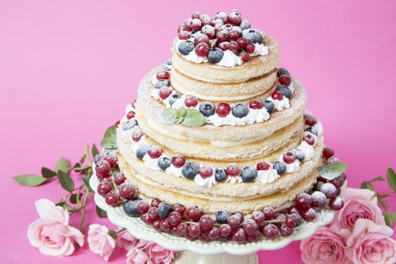 果子奶油蛋糕 免版税库存照片