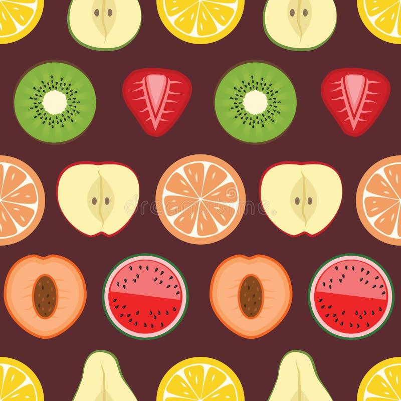 果子对分样式背景 库存例证