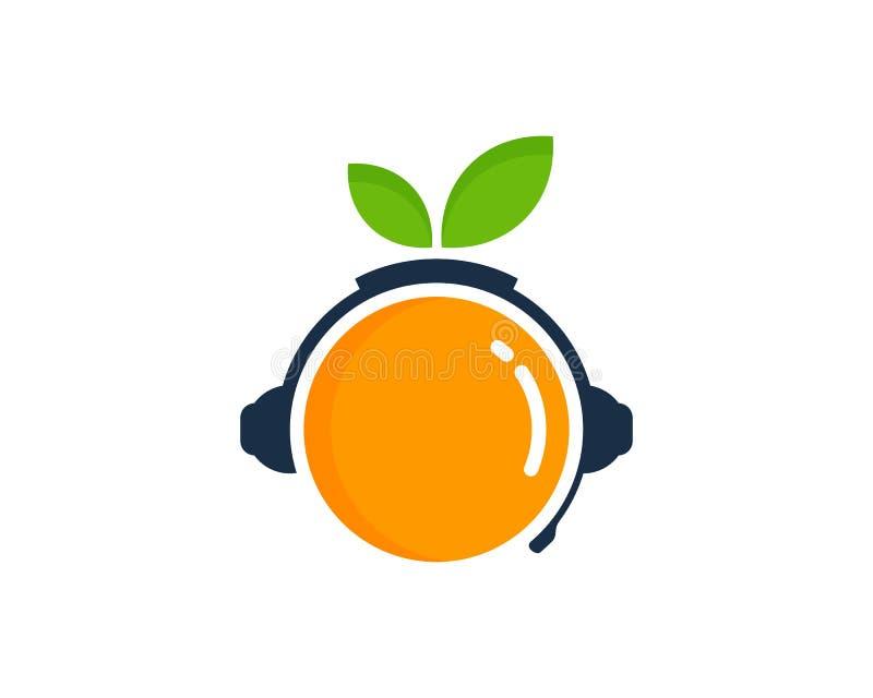果子播客商标象设计 向量例证