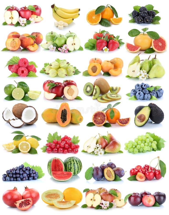 果子果子汇集新橙色苹果苹果草莓麦 图库摄影