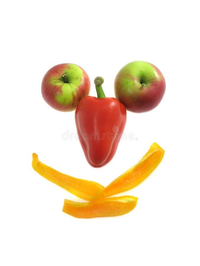 果子查出的微笑白色 免版税库存照片