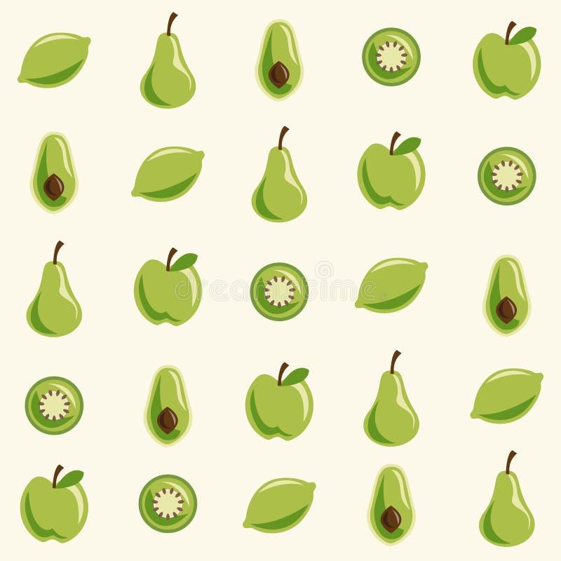 果子模式 库存例证
