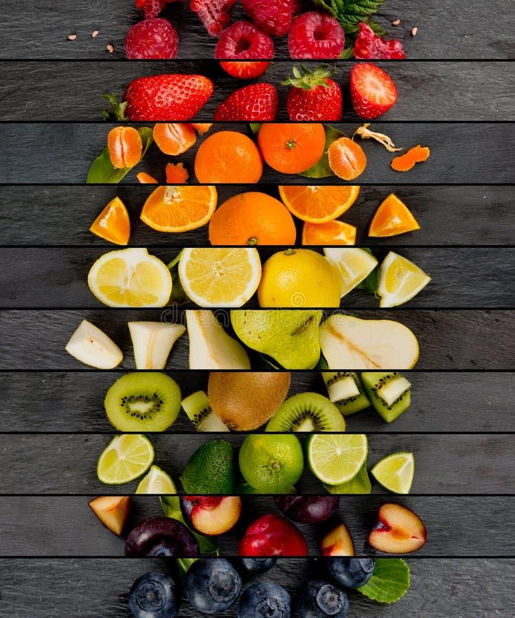 果子混合条纹 免版税图库摄影