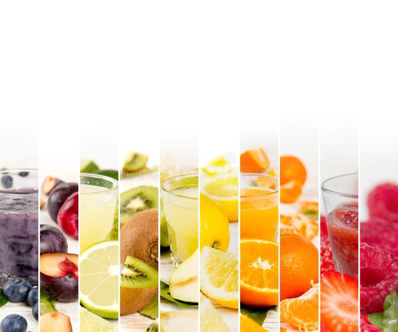 果子混合条纹 免版税库存图片