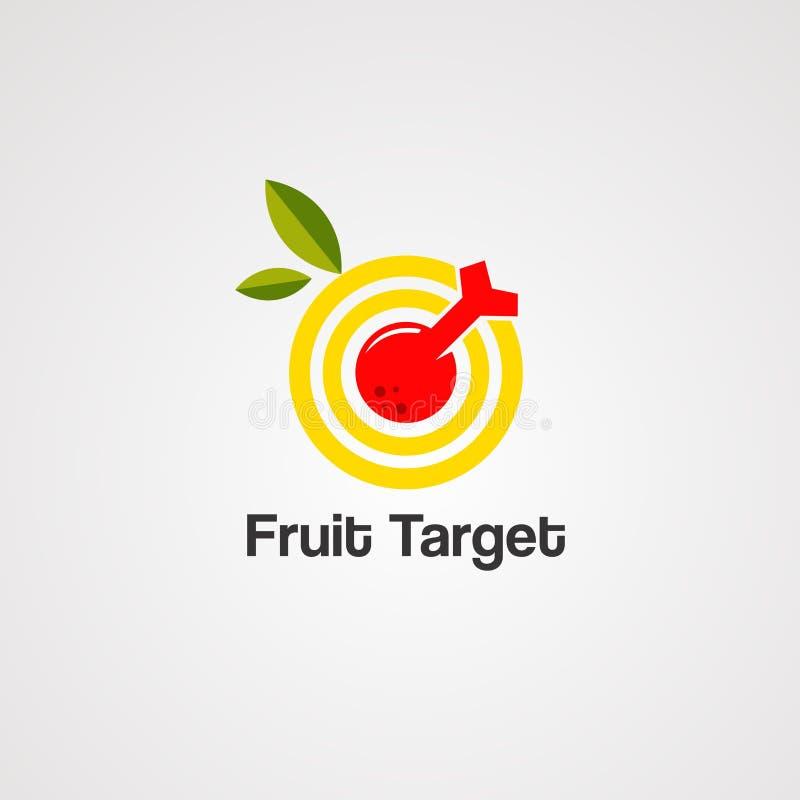 果子目标商标传染媒介、象、元素和模板 库存例证