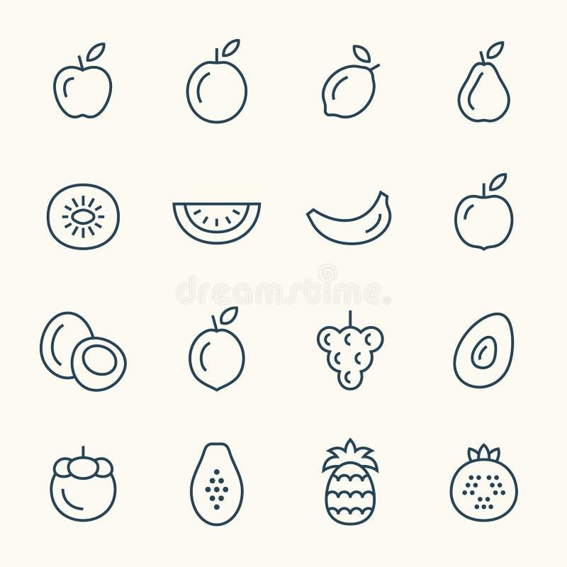 果子线象 向量例证