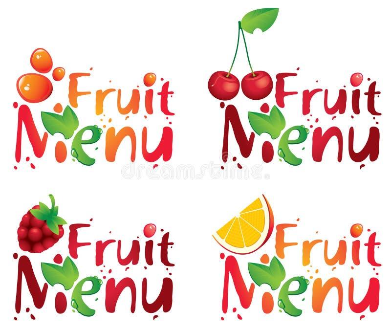 果子菜单 皇族释放例证