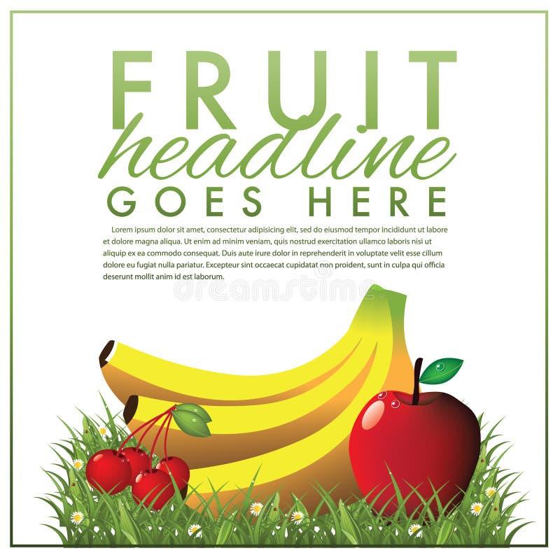 果子营销模板 向量例证