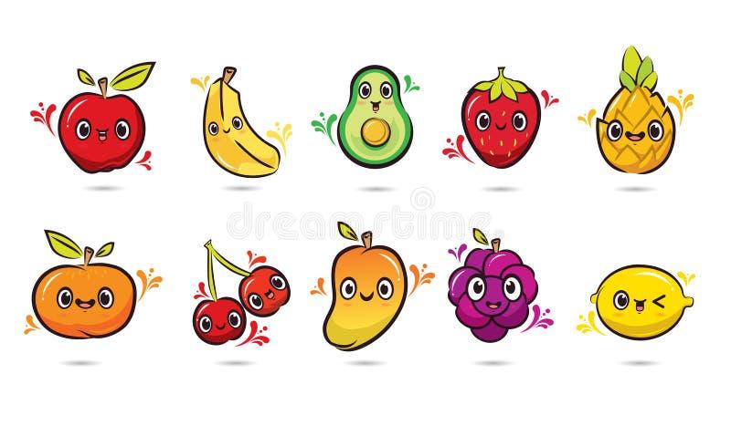 10果子设计传染媒介组装 皇族释放例证