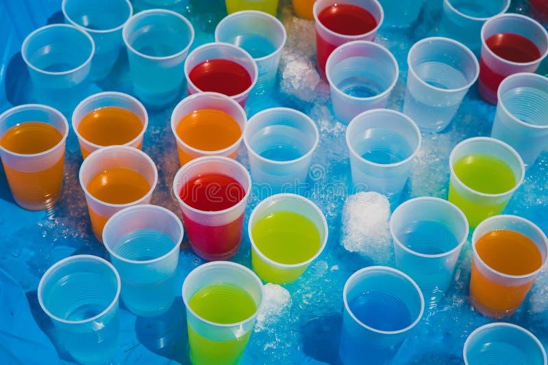 果子调味的饮料的选择 免版税库存照片