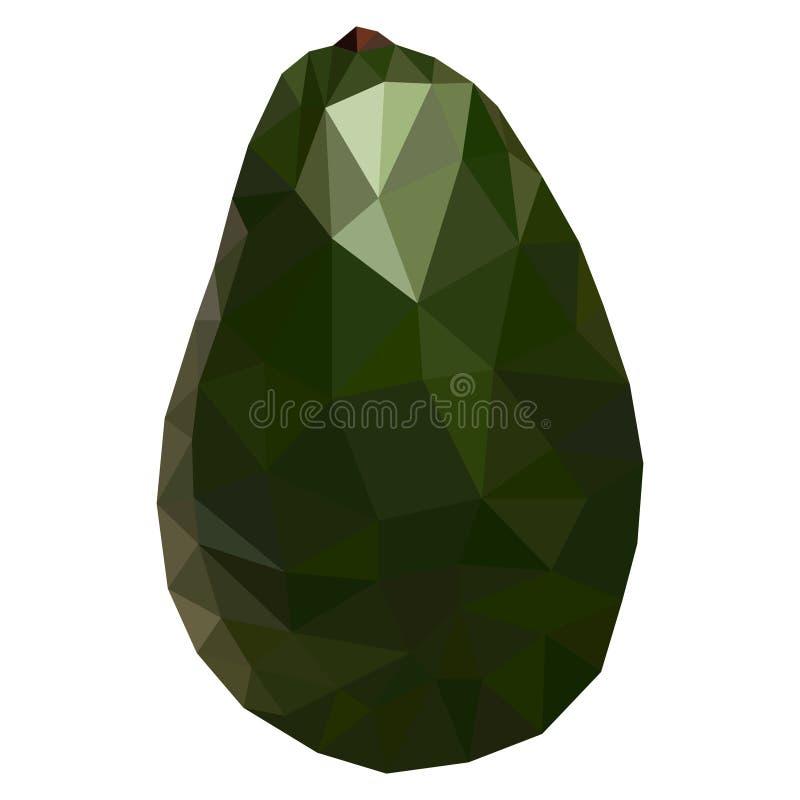 果子鲕梨低多样式 可口鲕梨多角形几何传染媒介例证 向量例证