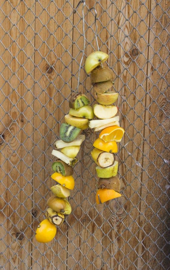 果子,得到的动物的草料干燥在阳光下 库存图片