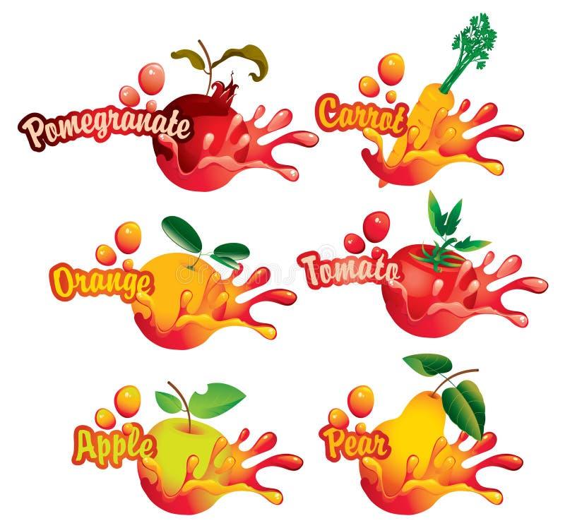 果子 向量例证