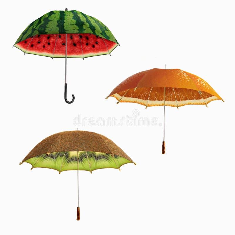 果子umbrellase 图库摄影