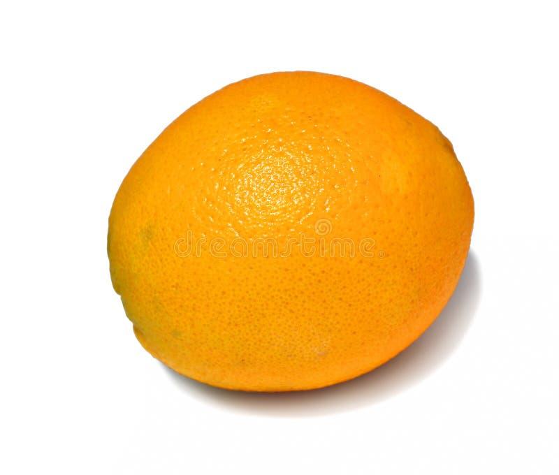 结果实被隔绝的一个大橙色特写镜头 图库摄影