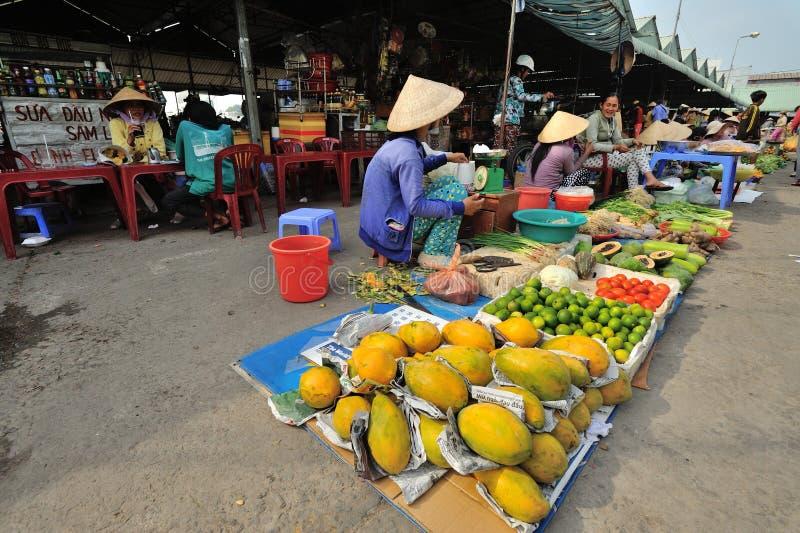 水果市场 越南 库存图片