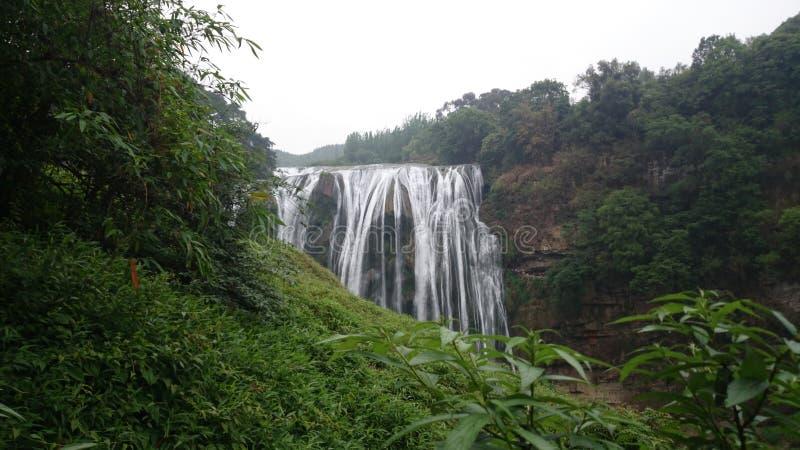 黄果树瀑布在贵州 图库摄影