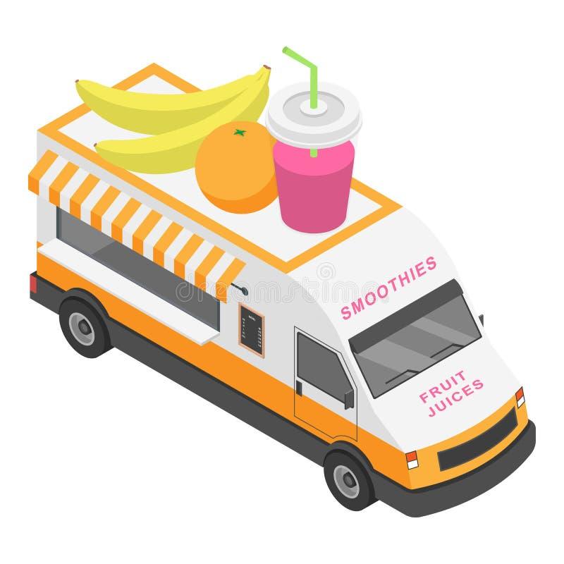 果汁卡车象,等量样式 皇族释放例证