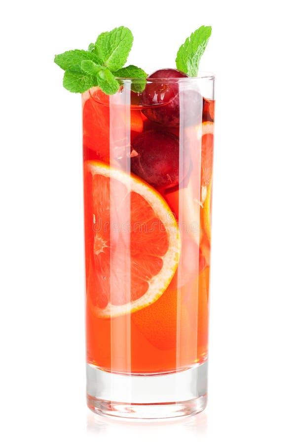 果汁喷趣酒刷新的桑格里酒 库存照片