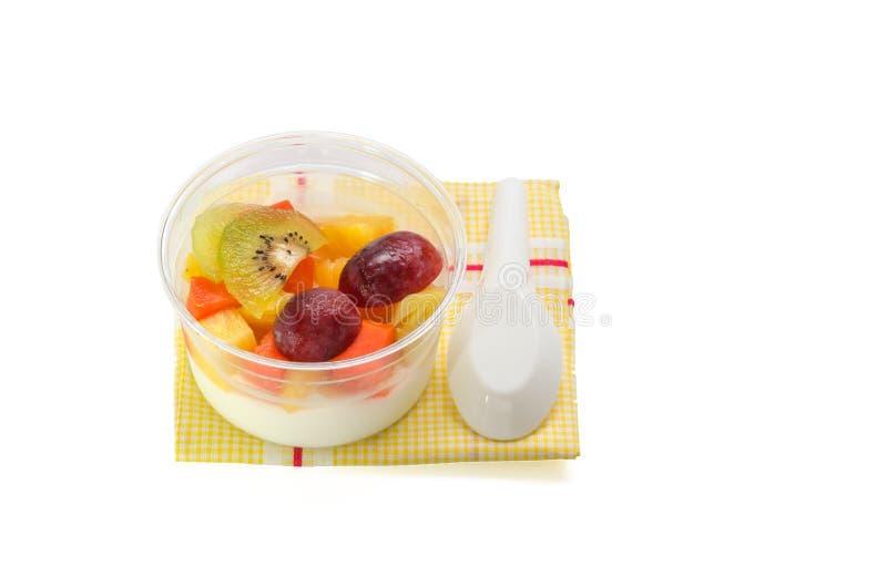 水果沙拉布丁 免版税库存图片