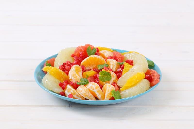 水果沙拉板材 免版税库存图片