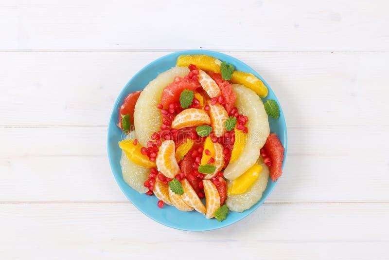 水果沙拉板材 免版税库存照片