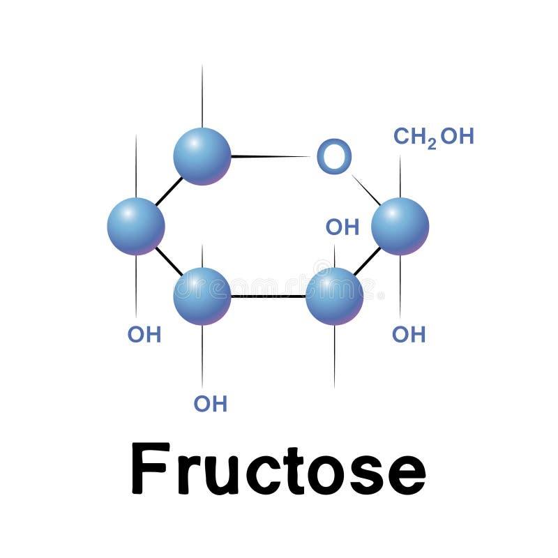 果糖分子 皇族释放例证