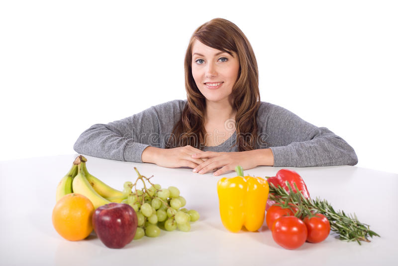 果菜类妇女 免版税库存图片