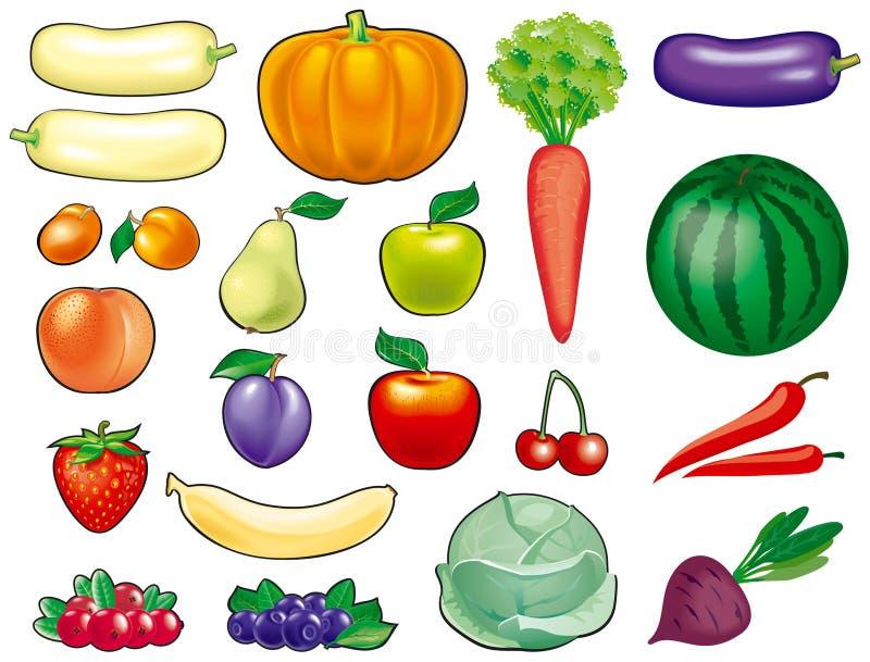 果菜类 库存例证