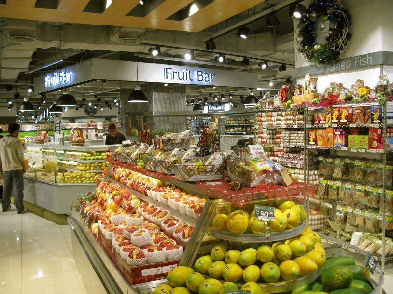 水果食物,威尼斯大运河购物中心,麦金莱小山,达义市,菲律宾 库存照片