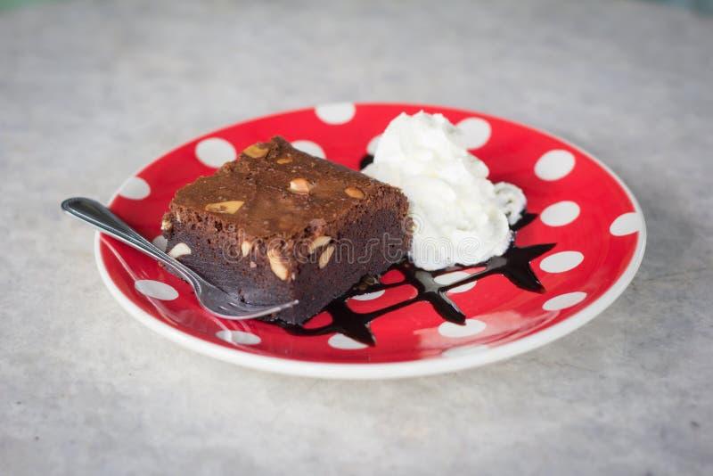 果仁巧克力和奶油 库存照片