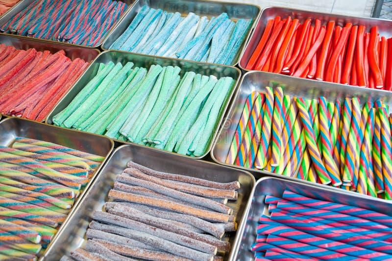 果冻棍子糖果分类 库存图片