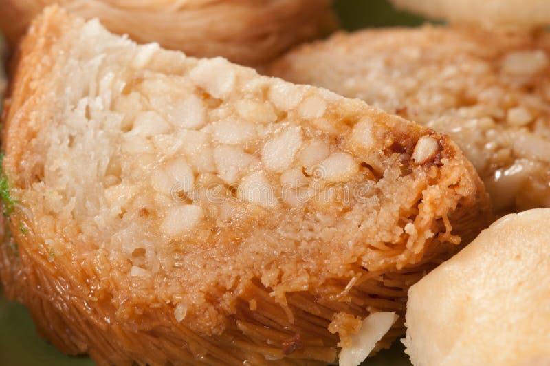 果仁蜜酥饼用花生 免版税图库摄影