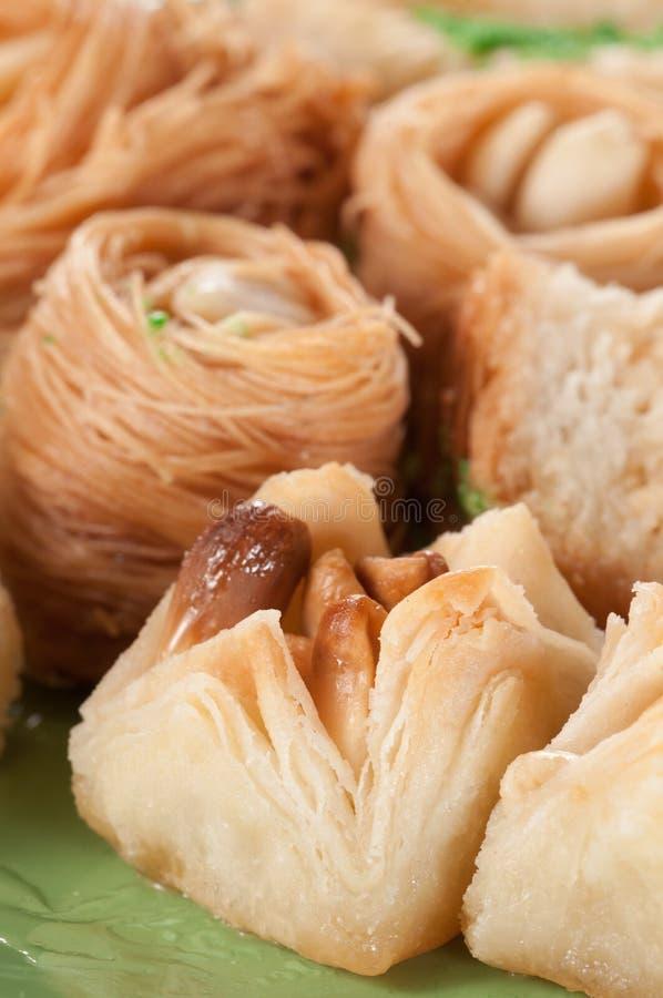果仁蜜酥饼用花生 免版税库存图片