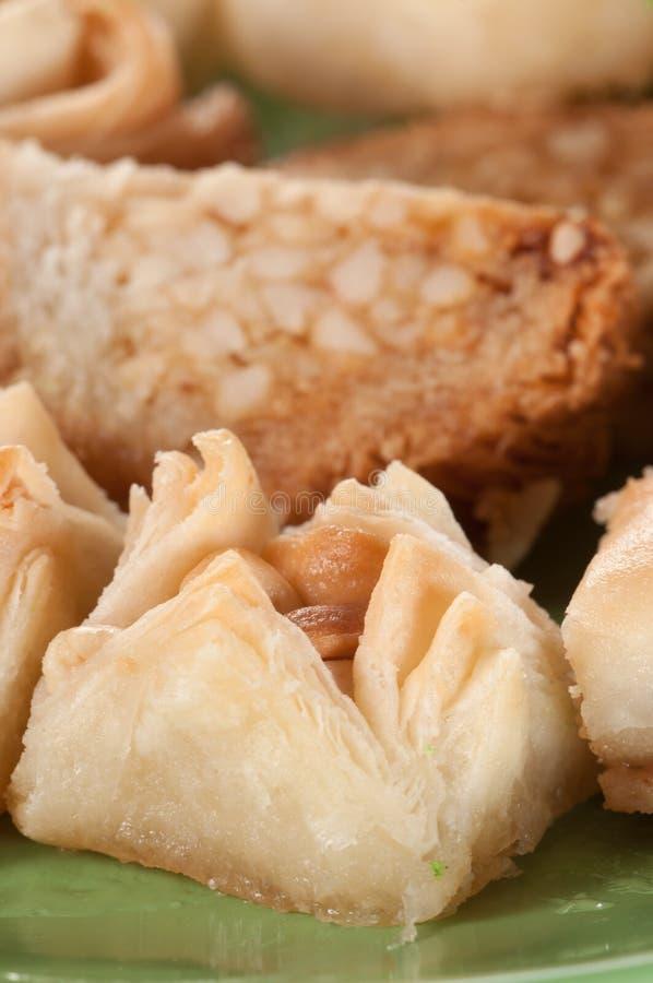 果仁蜜酥饼用花生 免版税库存照片