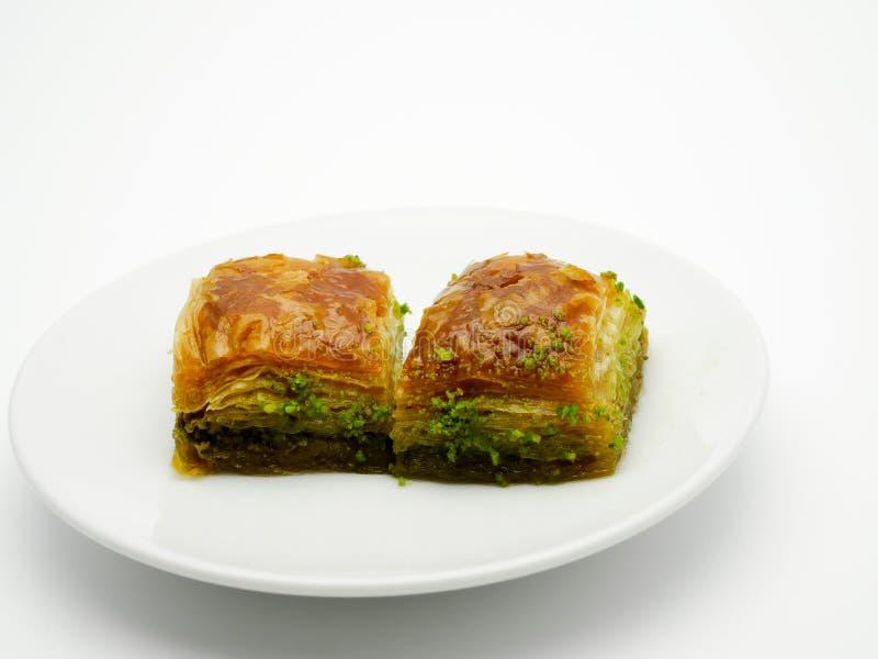 果仁蜜酥饼,土耳其点心 库存图片