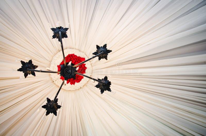 枝形吊灯光 库存图片