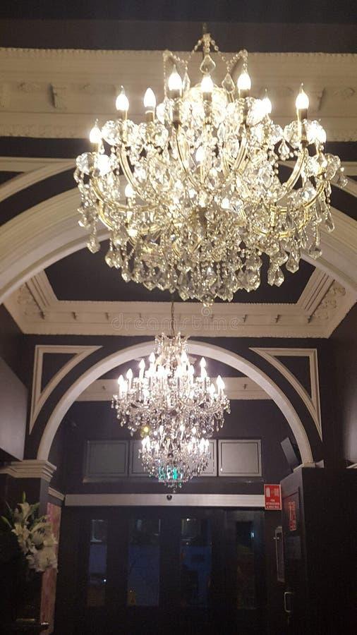 枝形吊灯在殖民地样式旅馆里在悉尼,澳大利亚 库存图片