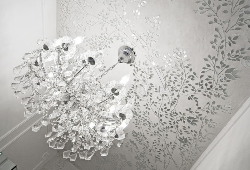 枝形吊灯水晶玻璃 库存图片