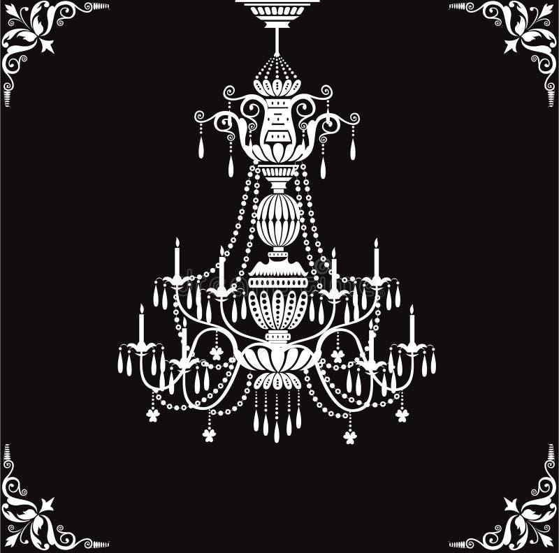 枝形吊灯水晶 皇族释放例证