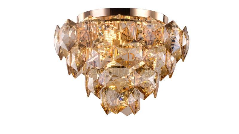 枝形吊灯现代被带领的天花板照明设备 皇族释放例证