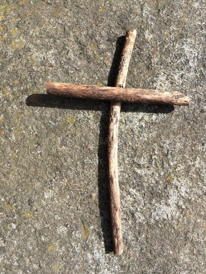 枝杈十字架 免版税库存照片