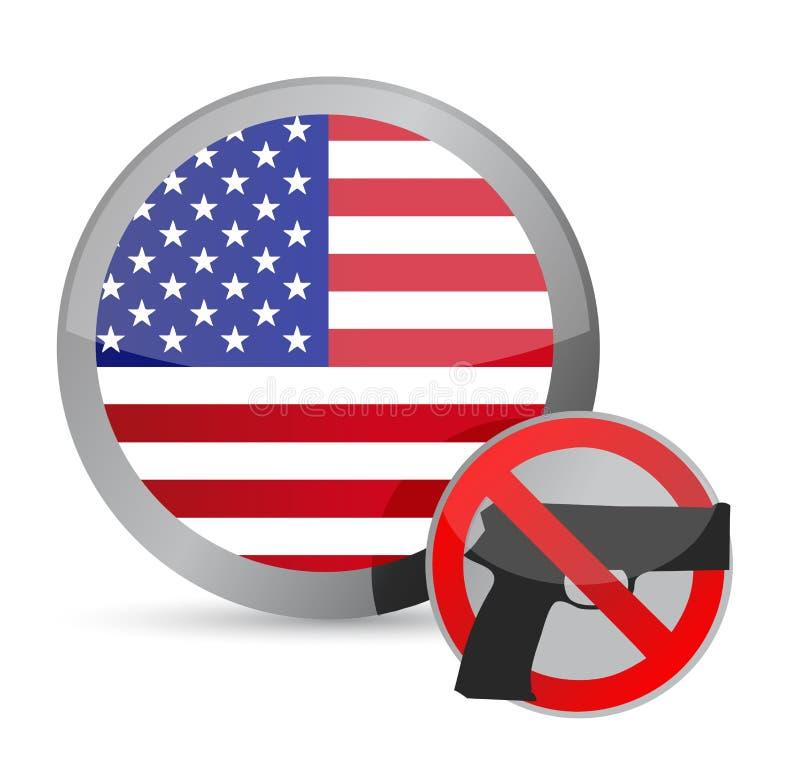 枪不允许我们 皇族释放例证
