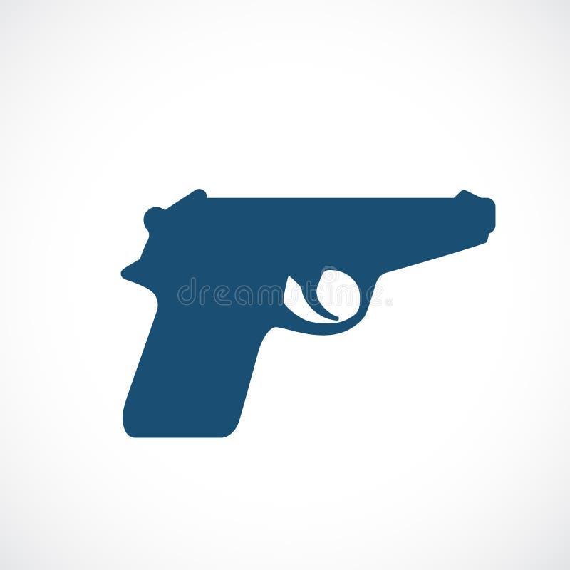 枪传染媒介剪影象 向量例证
