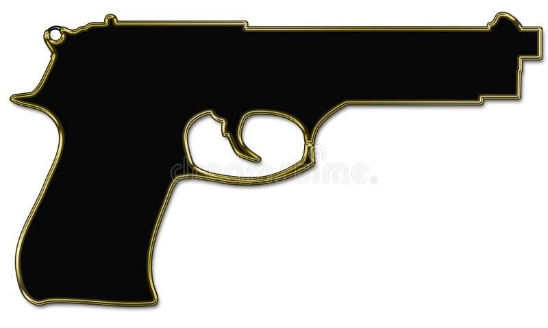 枪剪影 库存图片